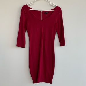 Tart V neck dress | Red | Size XS